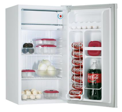 Picture of a refrigerator filled with grocery items