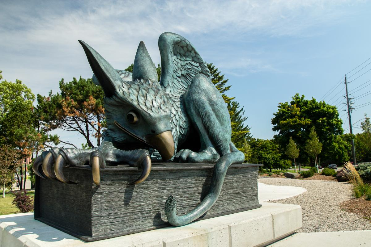 photo of gryphon statue