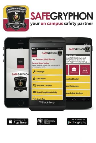 Safe Gryphon mobile app