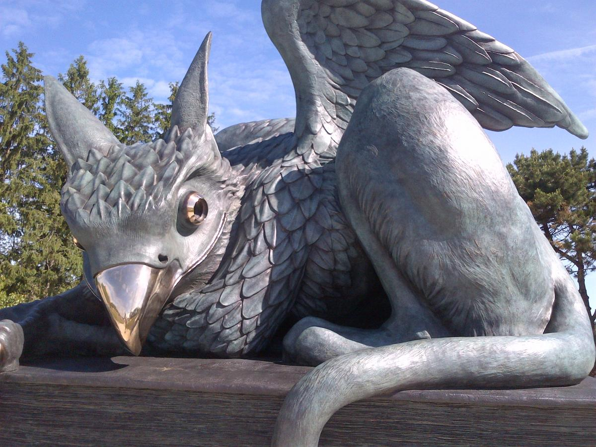 Picture of the Gryphon statue